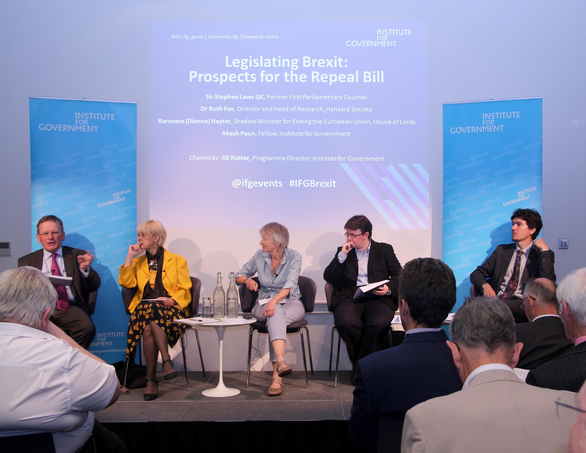 Panellists:  Baroness Hayter, Sir Stephen Laws QC, Dr Ruth Fox and Akash Paun