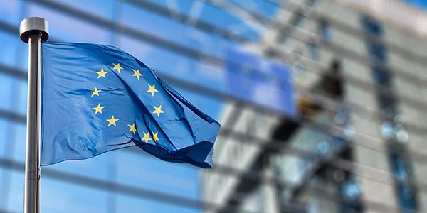 EU flag outside the European Parliament
